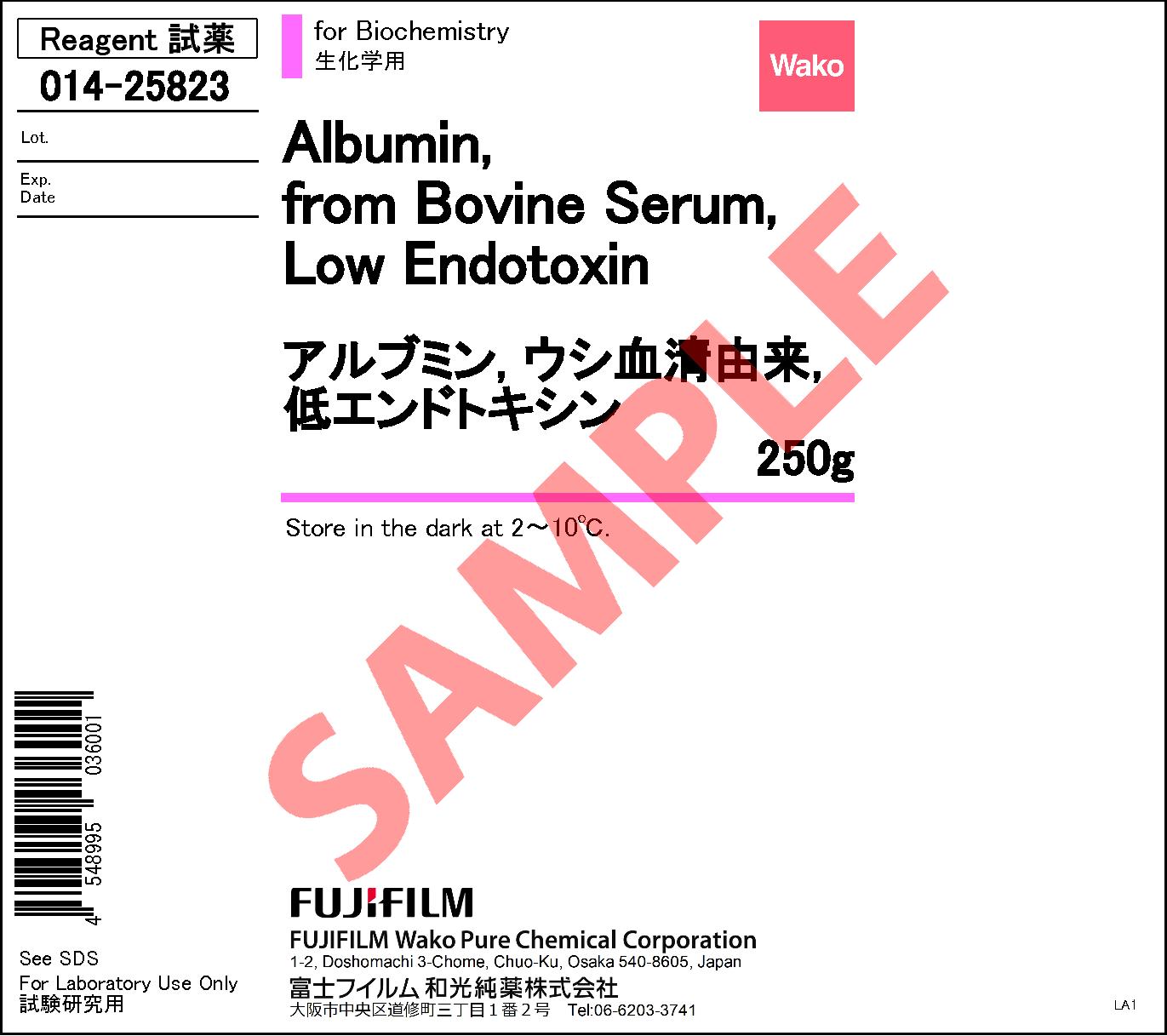 9048-46-8・Albumin, from Bovine Serum (BSA), Low Endotoxin